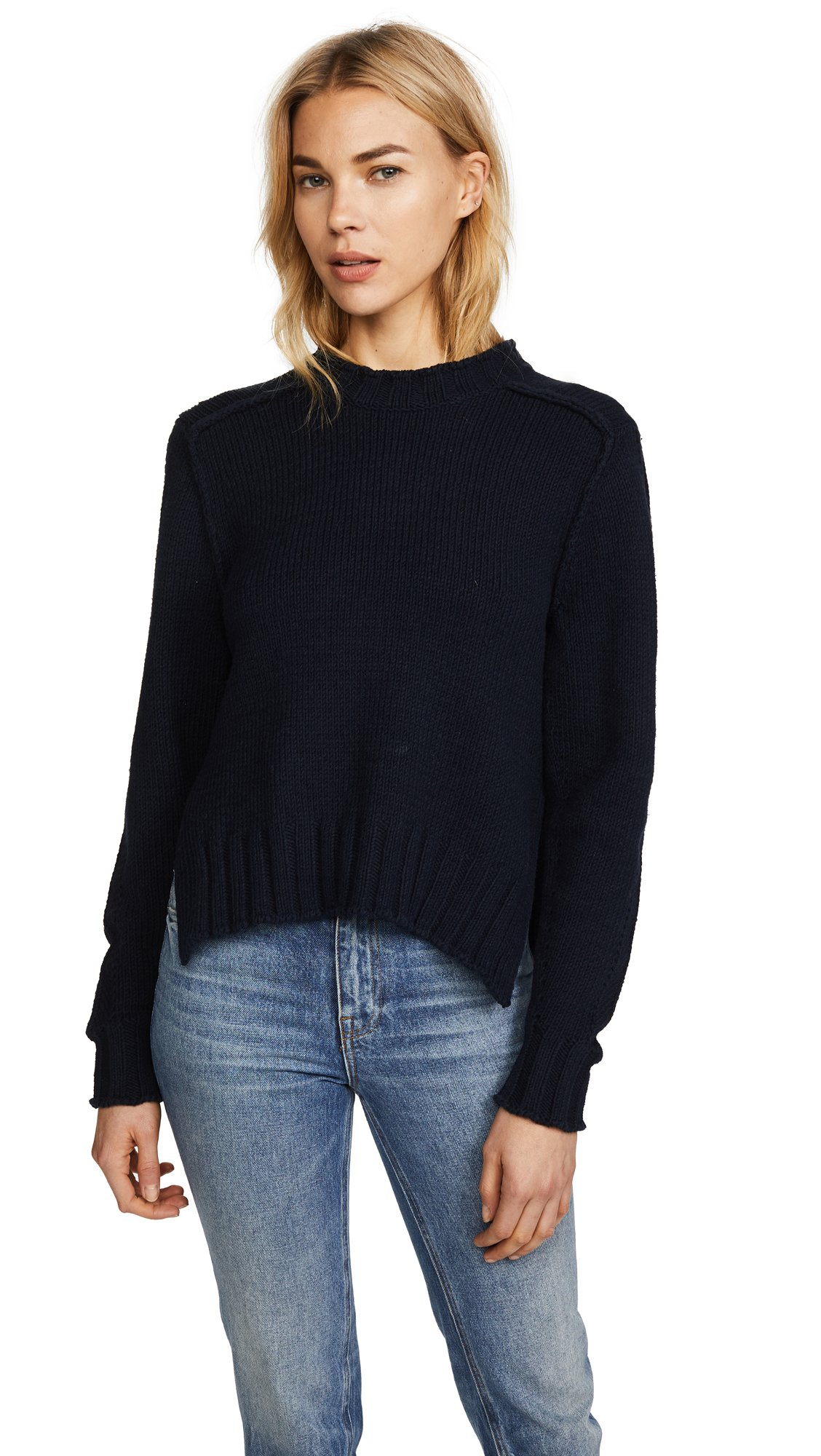 360 SWEATER Women's Kendra Sweater, Midnight, X-Small by 360SWEATER (Image #1)
