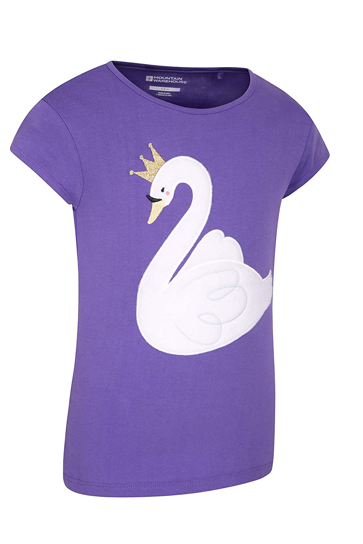 L/éger et respirant Pour pique-niques ext/érieur Protection UV Mountain Warehouse T-shirt d/ét/é Swan pour enfant avec imprim/é