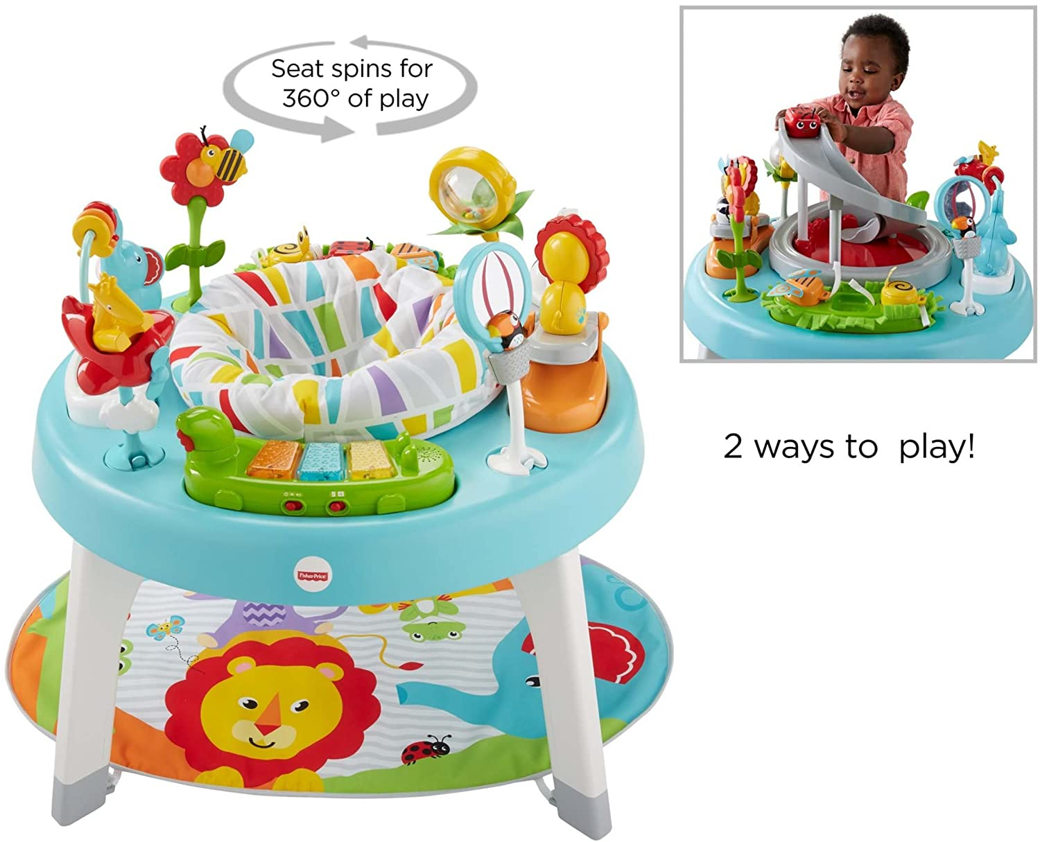 Jazzy Jungle Fisher-Price 3-in-1 Sit-to-Stand Activity Center