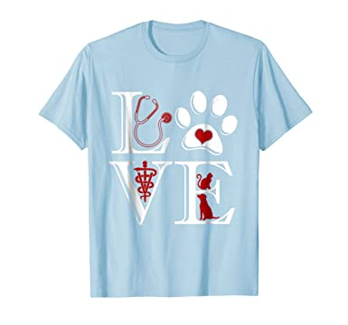 2638c46d Mens Veterinary Medicine Is LOVE Funny Cute Graphic T Shirt 2XL Baby Blue.  Roll over image to zoom in. Veterinarian, Vet Student, Vet Tech Gift