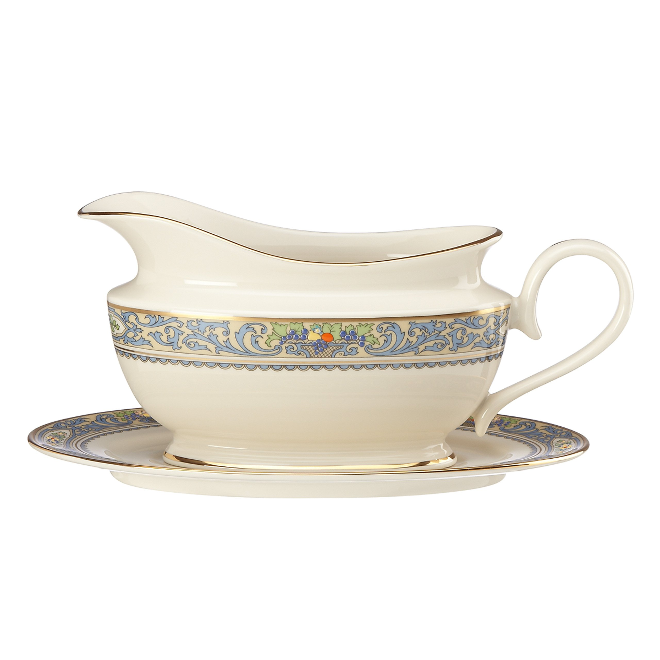 Lenox Autumn Sauce Boat and Stand, Ivory