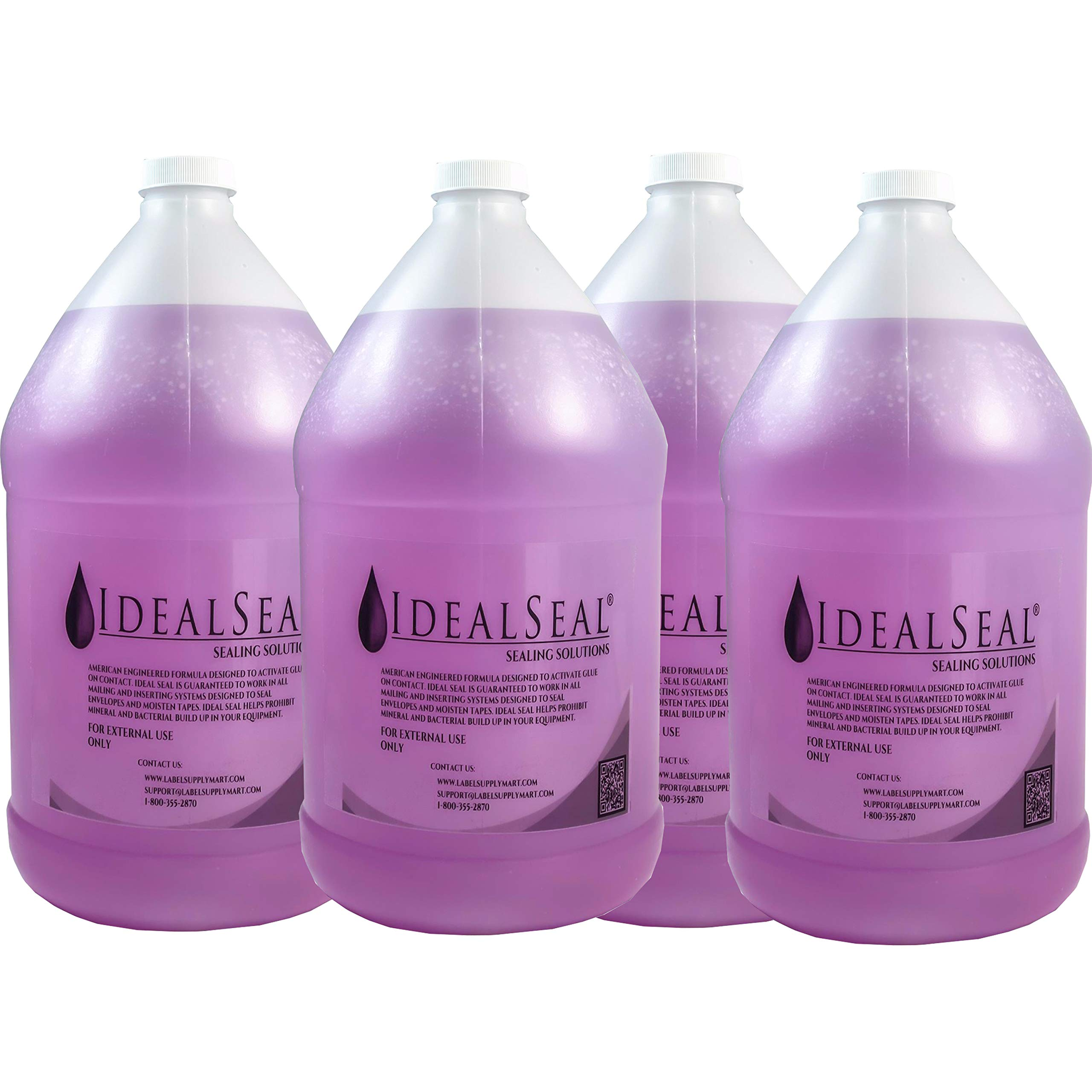 Ideal Seal One Gallon of Sealing Solution DM Series Mailing Systems (4-Gallons-Purple) by IDEALSEAL