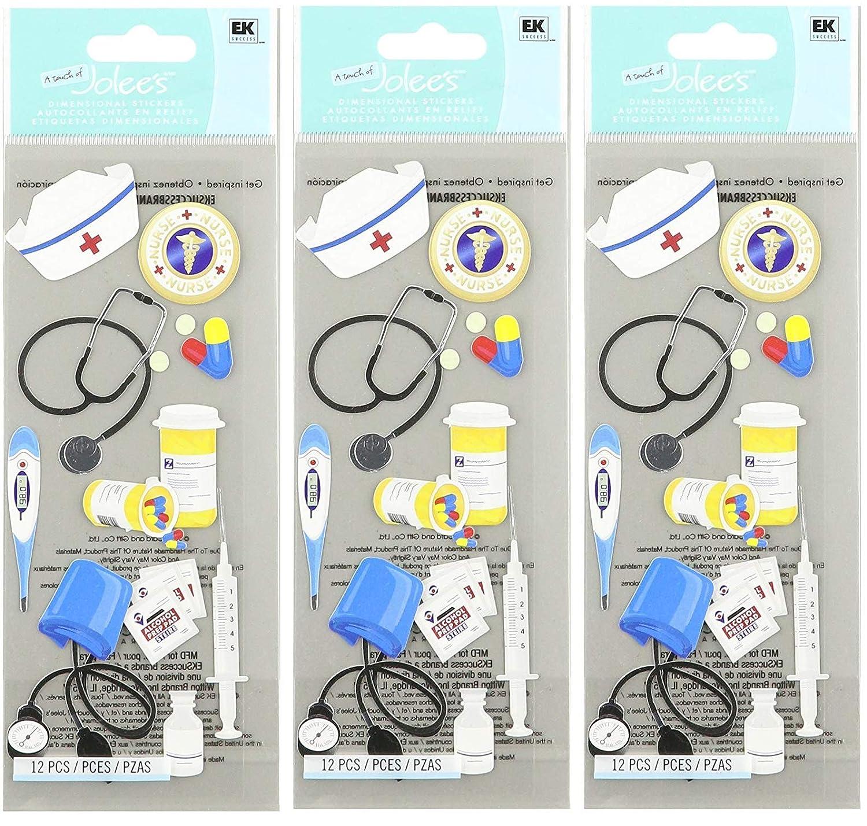 Multicolor Jolees Boutique 50-10026 Sticker 3D Nurse Accessories