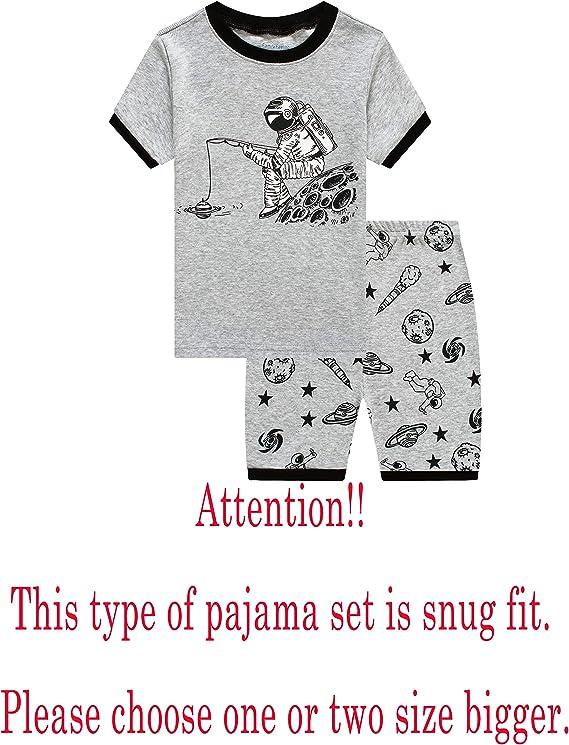 Family Feeling Shark Little Boys Shorts Set Pajamas 100% Cotton ...