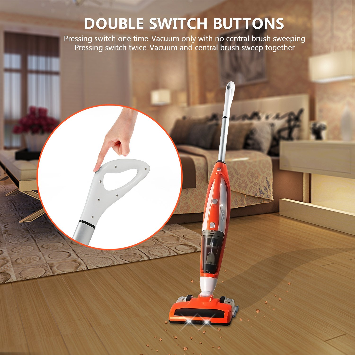 Evertop 3 In 1 Cordless Upright Vacuum Cleaner With This Is Gooda Vaccuum Wiper Switch Cable Operated There No Detachable Hand Hepa Filtration Lightweight Rechargeable Bagless Stick And