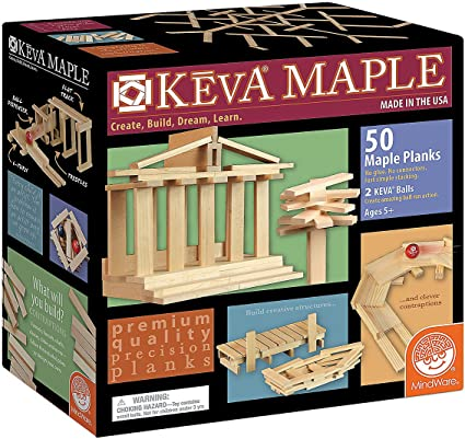 50 Pc Plank Set Mindware Keva Maple