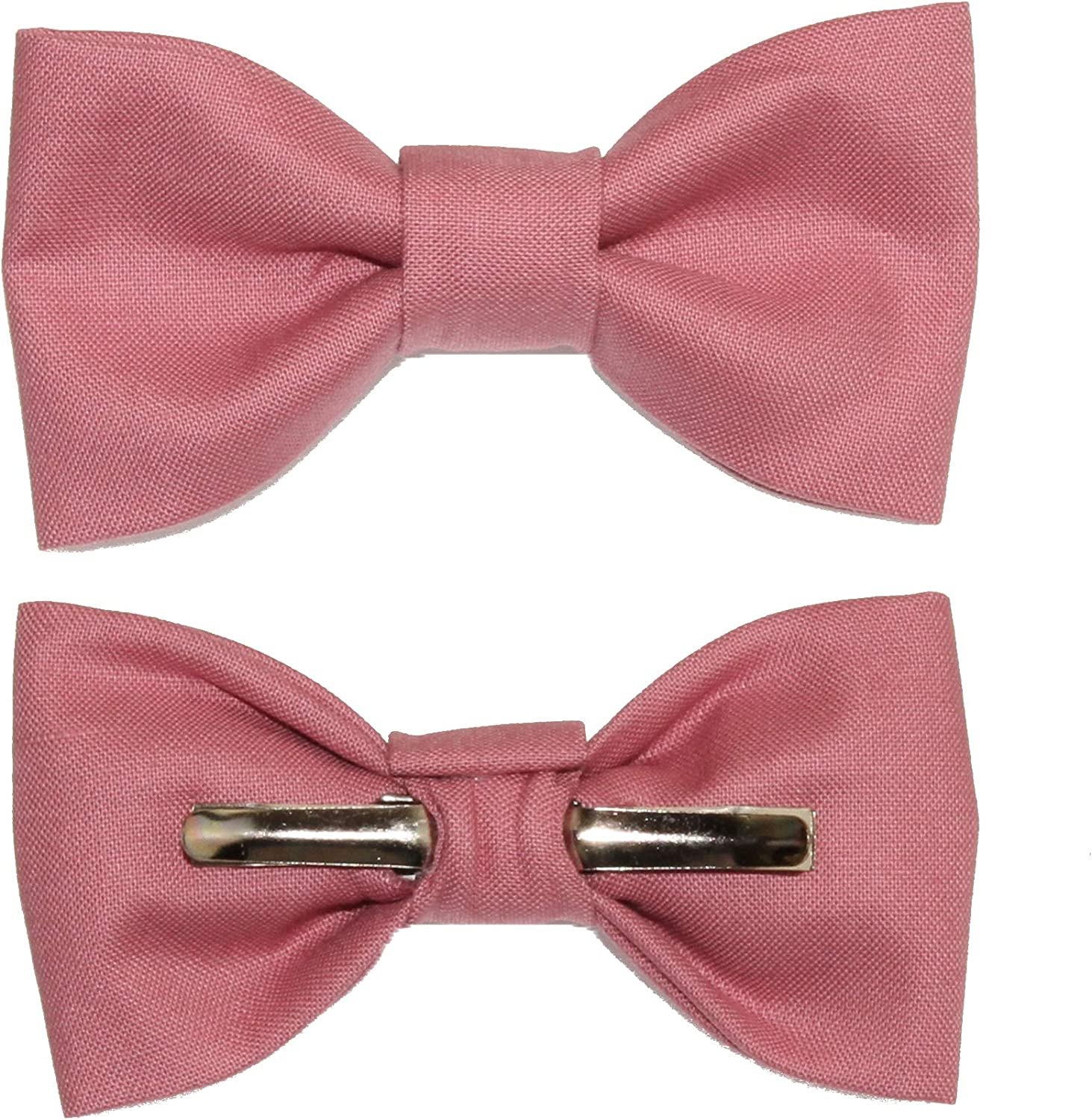 Toddler Boy 3T 4T Rose Pink Clip On Cotton Bow Tie Bowtie by amy2004marie