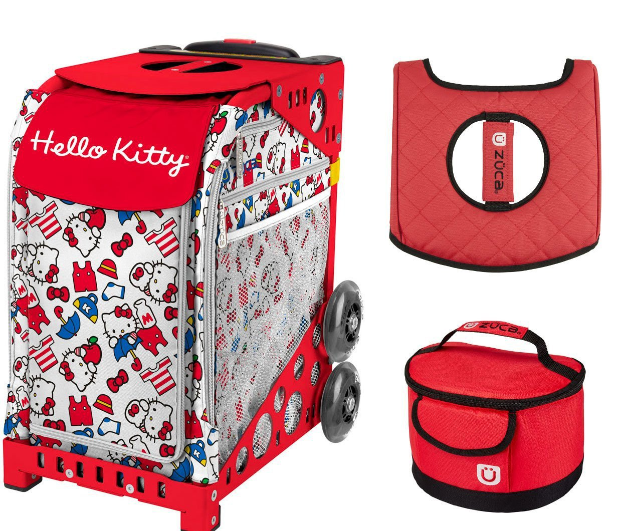 Amazon.com   ZUCA Hello Kitty Say Hello Sport Bag with Red Frame ... 3e9c284df4f84