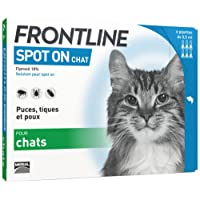 FRONTLINE Spot-on Chat - Anti-puces anti-tiques chat - 6 pipettes