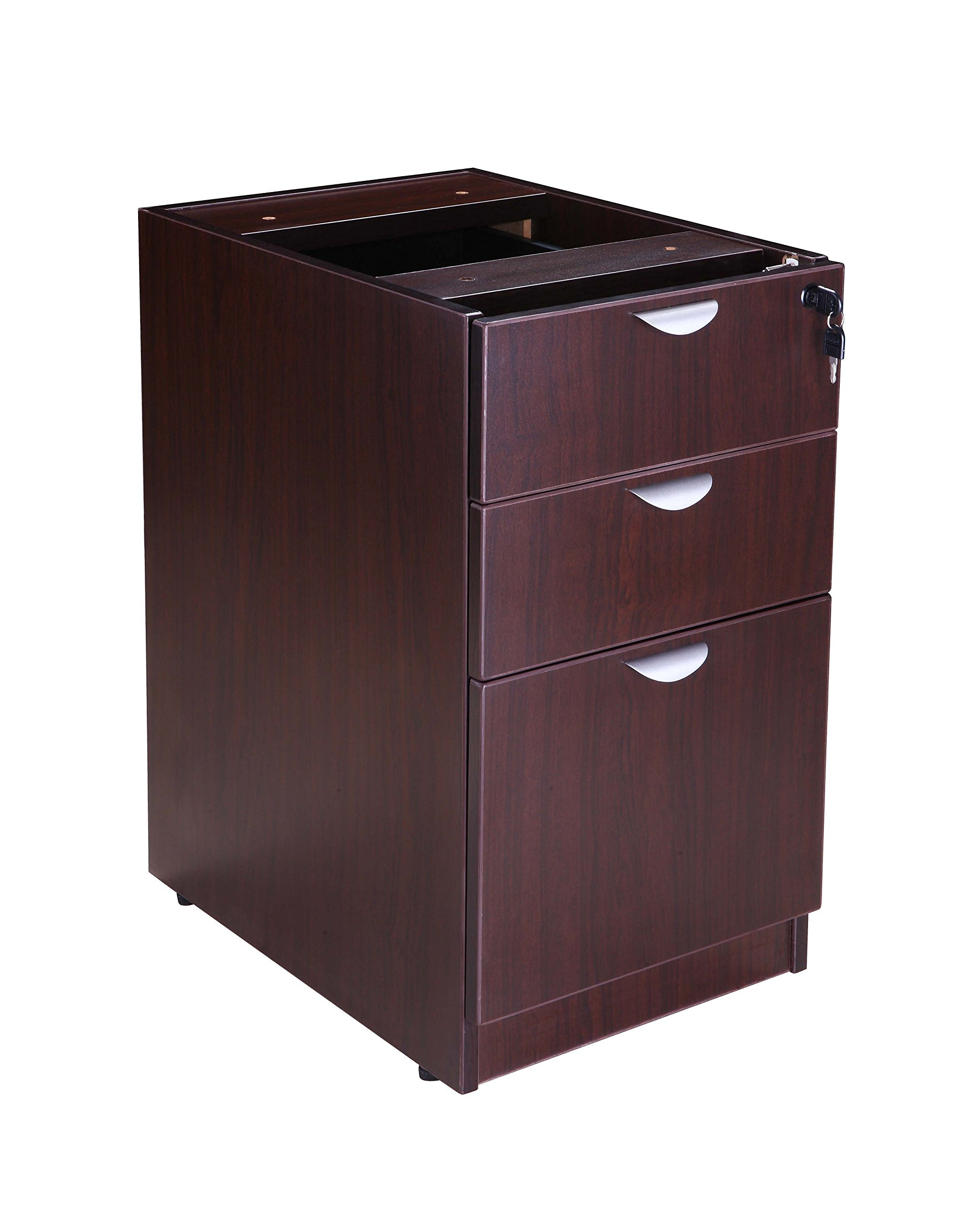 Boss Office Products Holland 71'' Executive U-Shape Desk with File Storage Pedestal and Hutch, Mocha by Boss Office Products (Image #6)