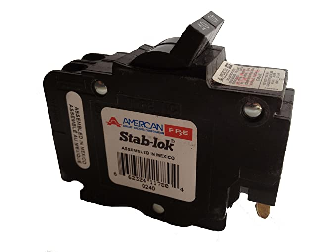 1- FEDERAL PACIFIC FPE NC240 40 AMP, 2 POLE, THIN CIRCUIT BREAKER STAB-LOK SPACE 40A 2P