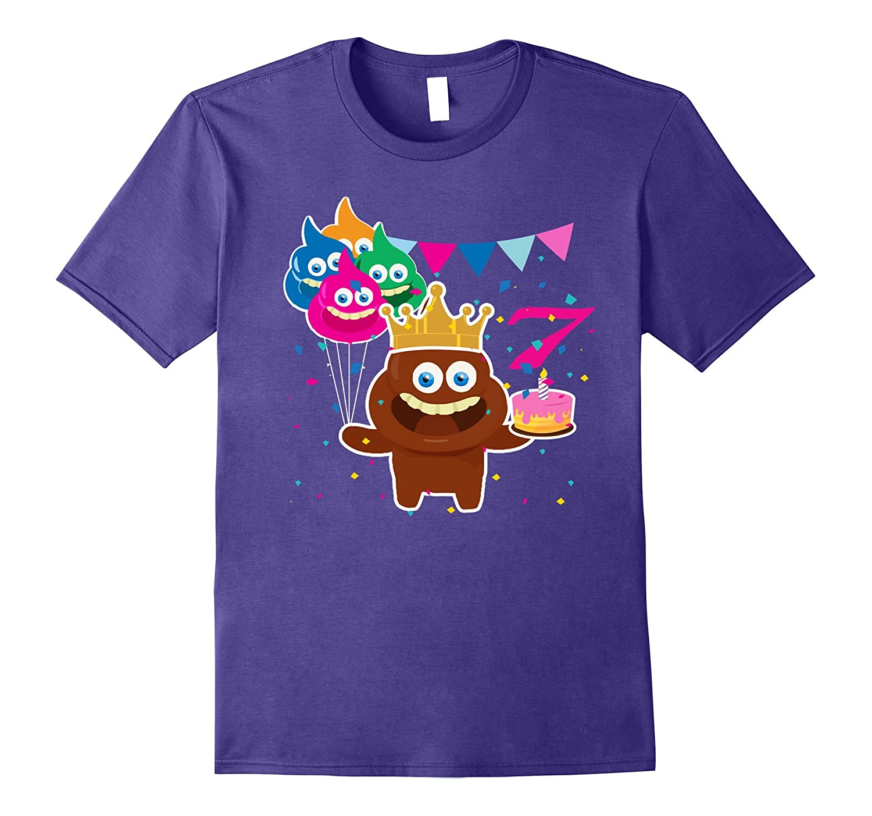 7 Years Old Awesome poop emoji T-shirt-Art