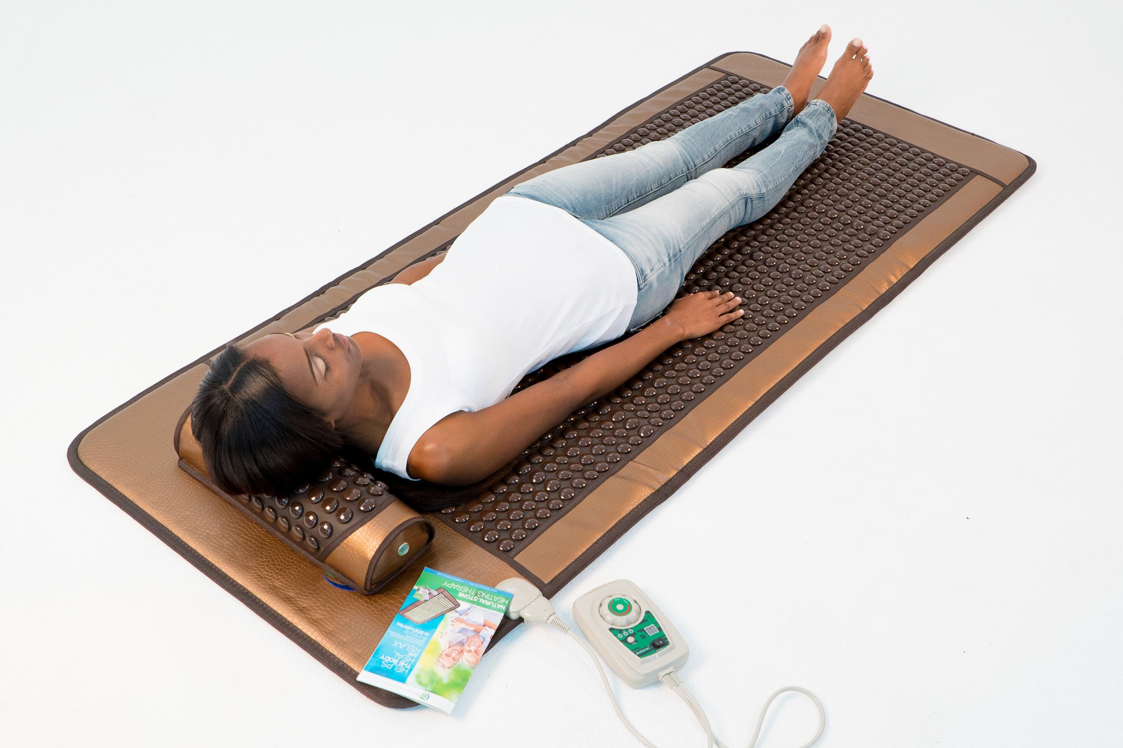 HealthyLine Far Infrared Heating Mat - For Pain Relief, Stress & Insomnia 76'' x 32'' | Natural Tourmaline Stone | Negative Ions (XL & Firm) | FDA Registered by HealthyLine (Image #6)