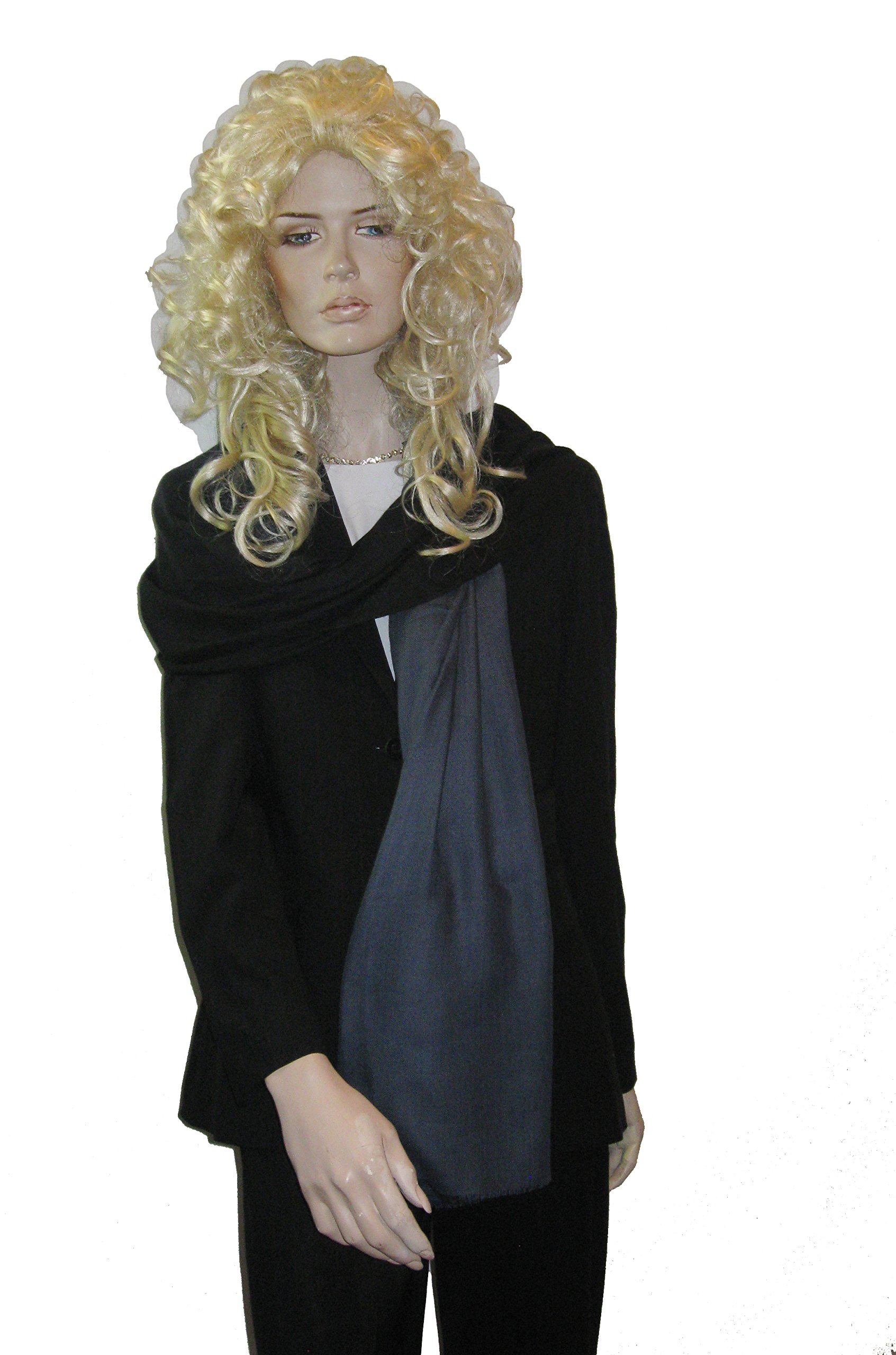 Shawl/shawls/scarf/scarves/Graduated Cashmere shawl-Cashmere Pashmina Group (Black/ Medium Grey)