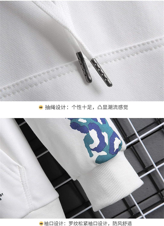 Fashion Plus Oversize Herren Schwarz Weiß Hip Hop Langarm Pullover Hoodies W906 5