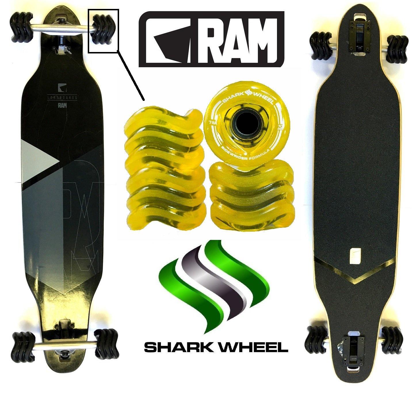 Fan tic26 tic26 tic26 Longboard RAM soli militare 2.0  Sidewinder Shark Wheels, nero   Sharks transparent giallo B01MSZH0SI nero   Sharks transparent giallo | Imballaggio elegante e robusto  | prendere in considerazione  | Forte calore e resistenza al calore  | Au cc2f85