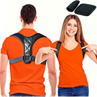 Trabee Posture Corrector for Women and Men with Underarm Pads - Adjustable Upper Back Brace for Neck, Shoulder and Back…