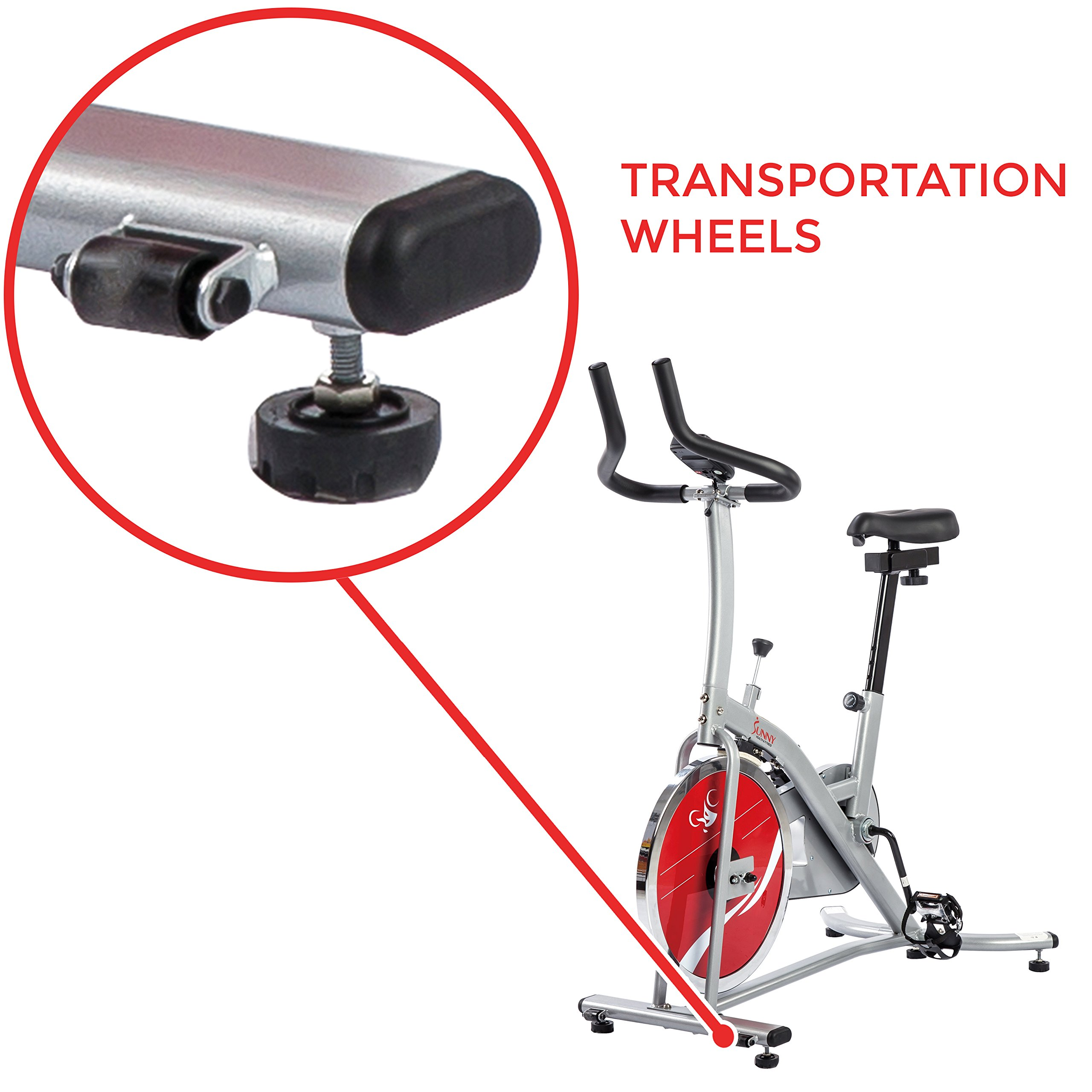 Sunny Health & Fitness Indoor Cycling Exercise Stationary Bike with Monitor and Flywheel Bike - SF-B1203 by Sunny Health & Fitness (Image #7)
