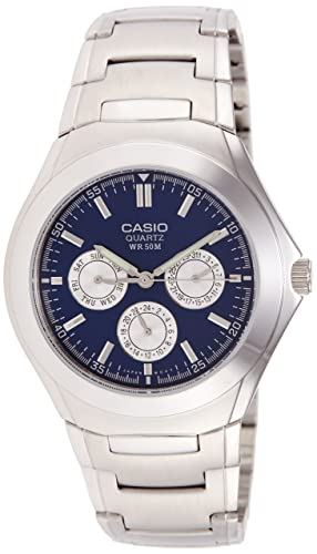 Casio MTP1247D2A - Reloj de Caballero metálico Azul: Casio: Amazon.es: Relojes