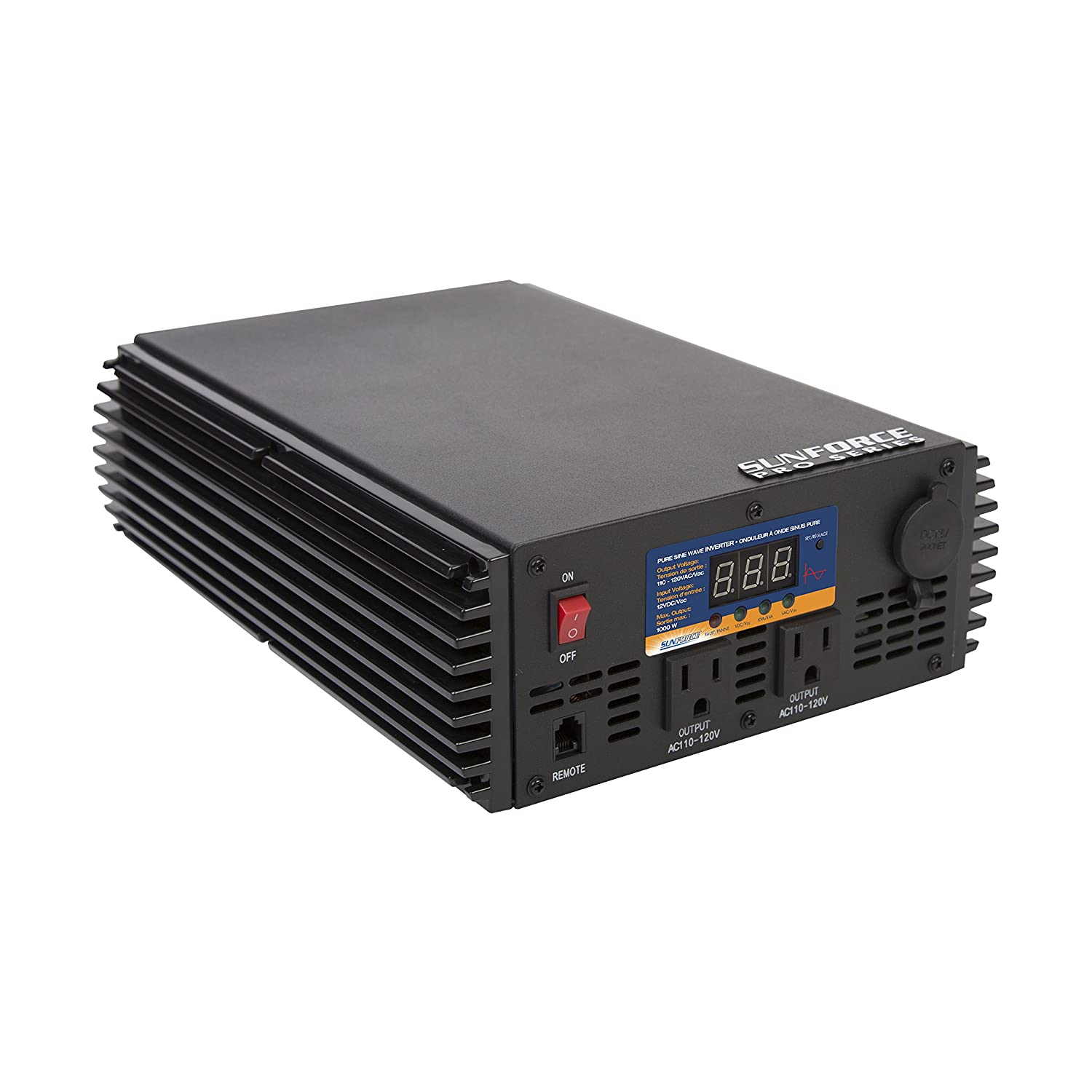 Sunforce 11240 1000 Watt Pure Sine Wave Inverter With Design Modified Code For Remote Control Automotive