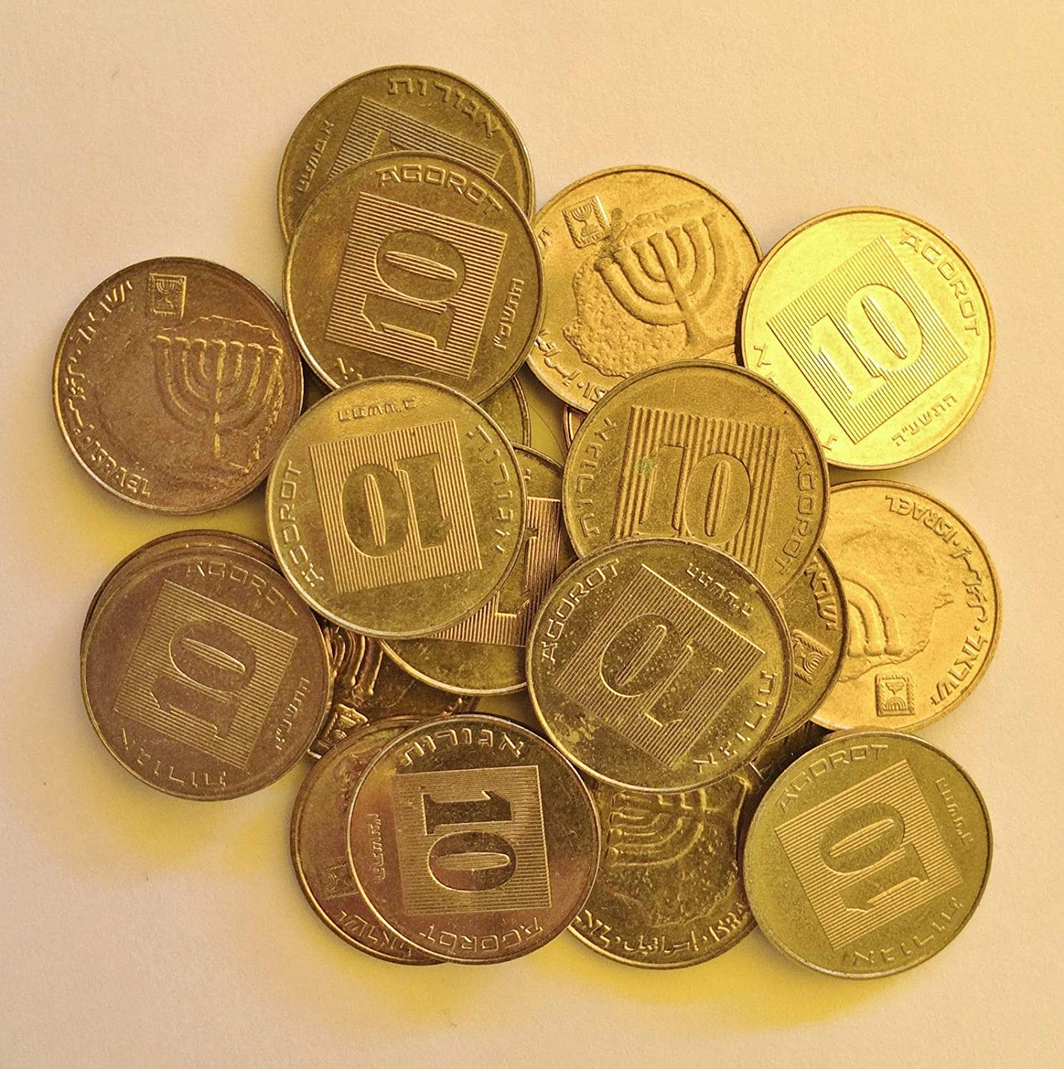 Old Israeli Sheqel Coin Collection Judaica Lot of 30 Israel Coins 1 One Agora