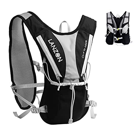 50255345f8 LANZON 2L Hydration Vest (NO Bladder), Marathon Running Pack, Hiking  Cycling Backpack
