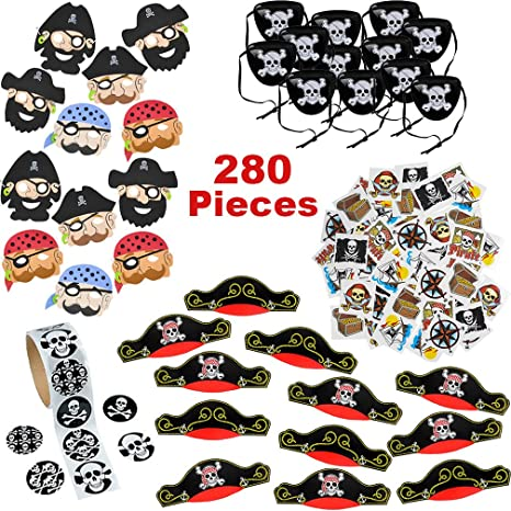 Amazon Com Pirate Party Supplies For Boys And Girls 280 Birthday