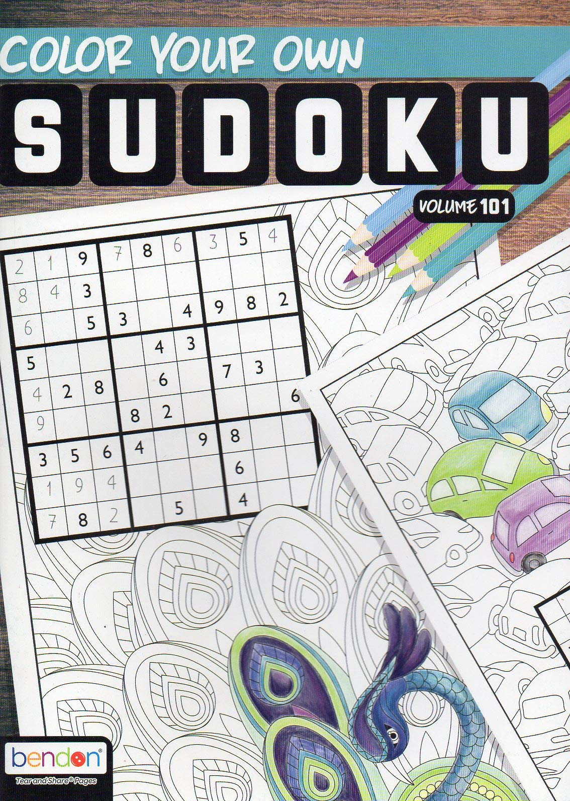 - Color Your Own Sudoku Puzzle - All New Puzzles - (2018) - Vol.101