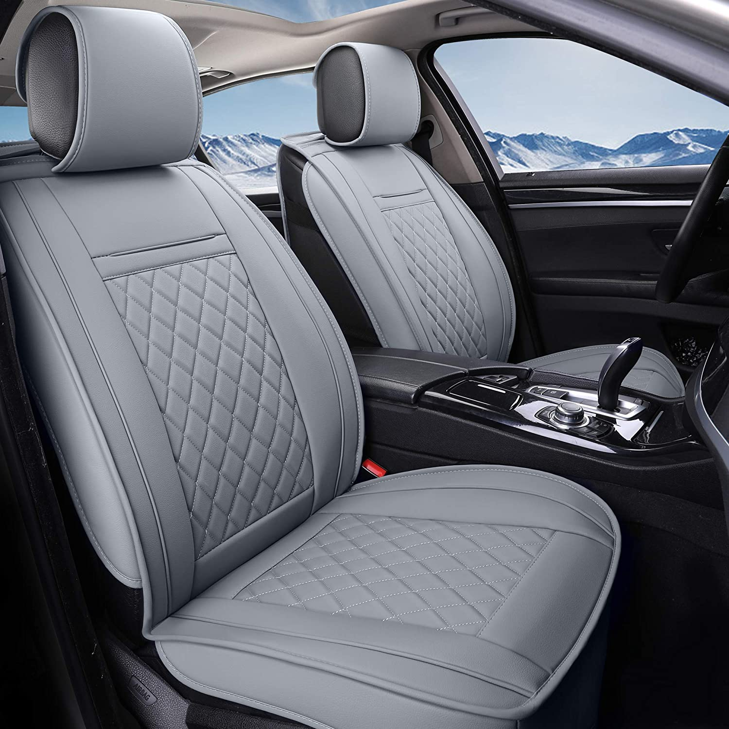Blue Black Modern Look Pair Front Car Seat Covers for Mitsubishi L200