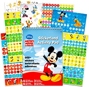 Disney Mickey Mouse and Minnie Mouse Stickers Party Favor Pack (624 Stickers Featuring Mickey Mouse, Minnie Mouse, Donald Duck, Daisy Duck, Goofy and More)