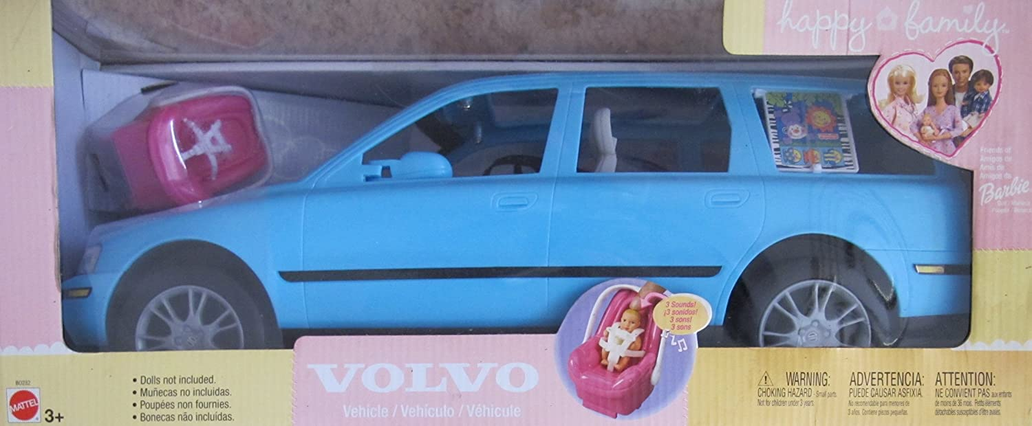 Amazon.com: BARBIE Happy Family VOLVO V70 Vehicle VAN SUV w CAR SEAT w 3 SOUNDS, Open/Close BACK HATCH & More! (2002 LIGHT BLUE SUV): Toys & Games
