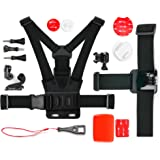 Action Camera 17-in-1 Extreme Sports Accessories Bundle - Compatible with the MGCOOL Explorer Pro Action Camera 4K - by DURAGADGET