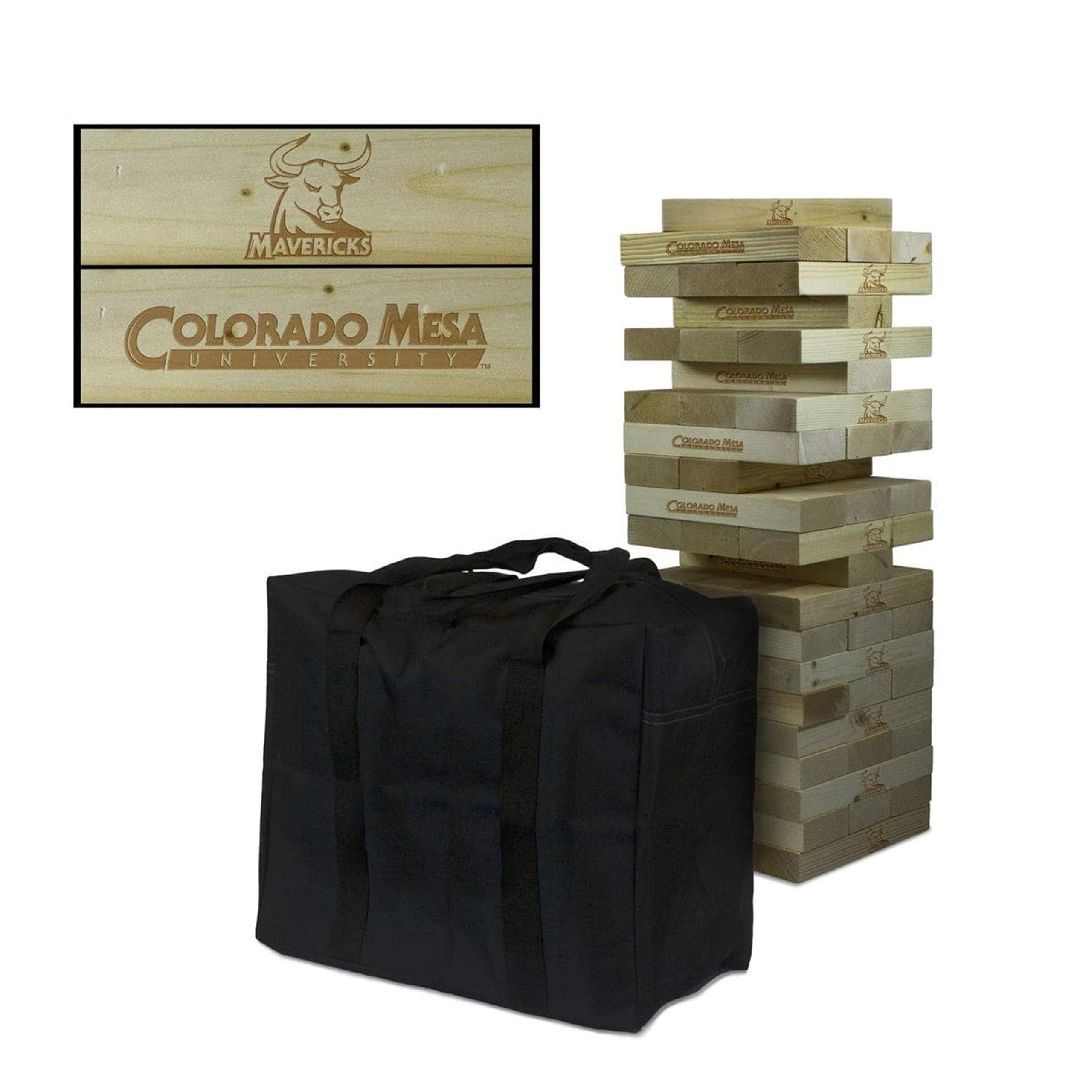 Victory Tailgate NCAA Giant Wooden Tumble Tower Game Set - Colorado Mesa University Mavericks by Victory Tailgate