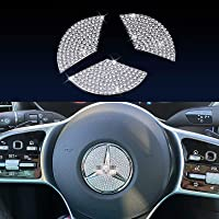 Compatible Steering Wheel Logo Caps for Mercedes Benz Accessories Parts Emblem Badge Bling Decals Covers Interior…