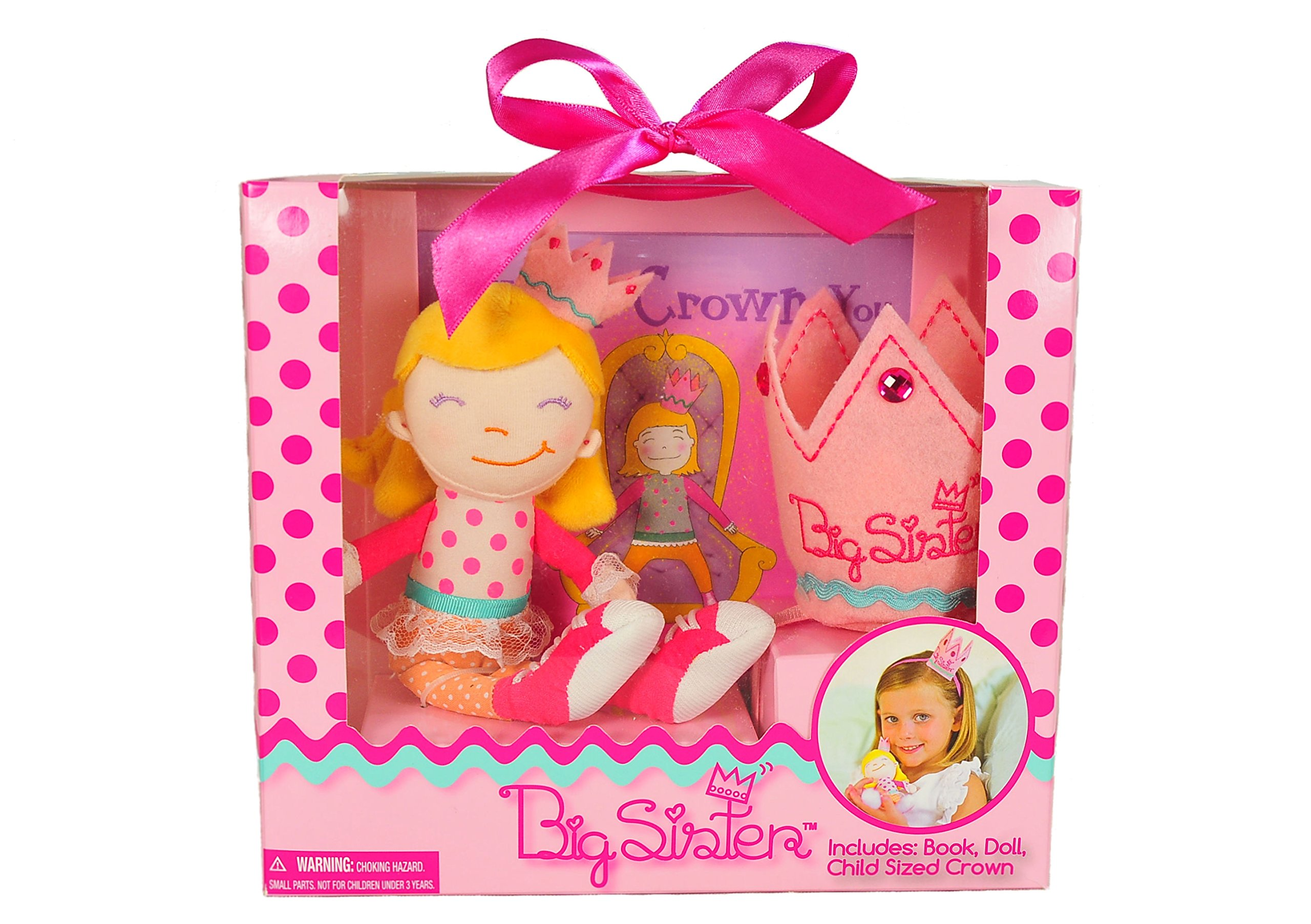 Tickle & Main Big Sister Gift Set- I Hereby Crown You Big Sister Book, Doll, and Child Size Crown by Tickle & Main (Image #4)