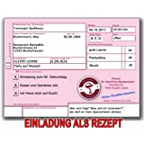 Einladungskarten Zum Geburtstag Als Krankenrezept Rezept Einladung (20  Stück)