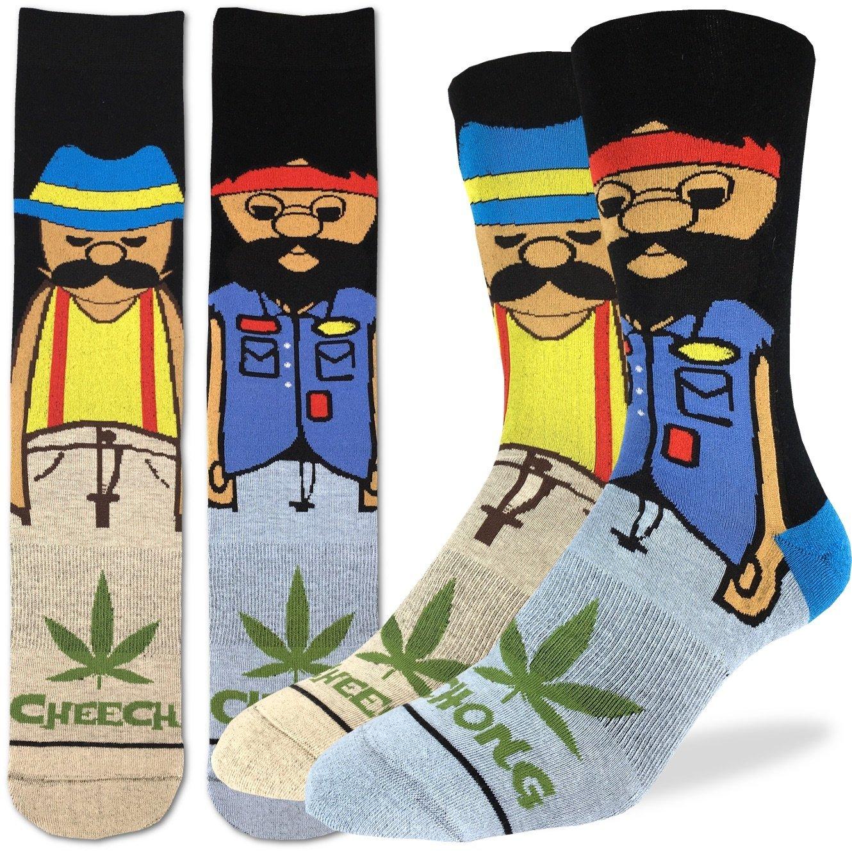 Shoe Size 8-13 Good Luck Sock Mens Cheech /& Chong 200 Needle Crew Socks