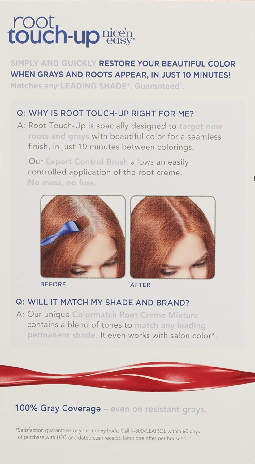 Amazon.com: Clairol Nice 'n Easy Root Touch-Up 6R Matches Light  Auburn/Reddish Brown Shades 1 Kit, (Pack of 2): Beauty