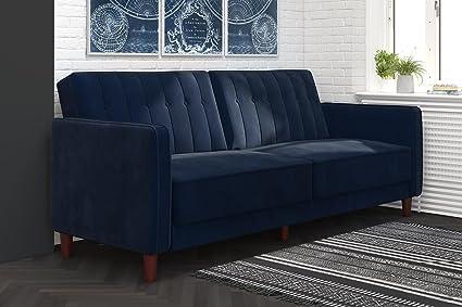 Amazon.com: DHP Ivana Vintage Tufted Upholestered Futon Sofa Bed
