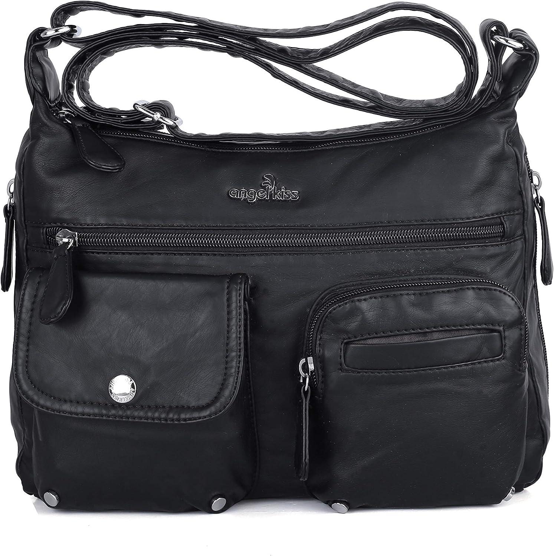 Women Lady Shoulder Bag Faux Leather Crossbody Messenger Handbags Tote Purse