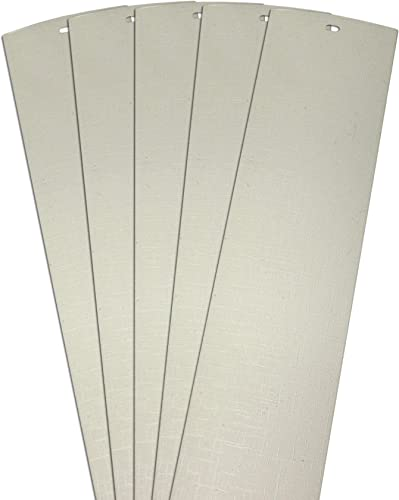 DALIX Lino Vertical Blinds Replacement Slats Off White 98.5 Glass Doors 5 Pack