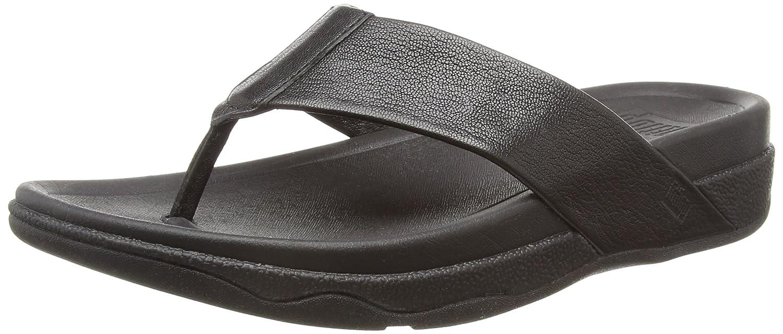 Fitflop Surfer Leather - Sandalias Hombre 45 EU|Negro (Black)