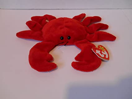 a65108083b9 Image Unavailable. Image not available for. Color  TY Beanie Baby - DIGGER  the Crab (Red Version - 4th Gen ...