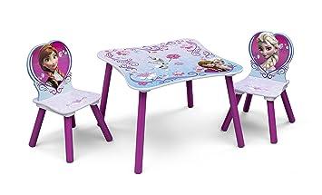 disney frozen set tavolino e 2 sedie in legno: amazon.it: casa e ... - Set Tavolo E Sedie Cucina