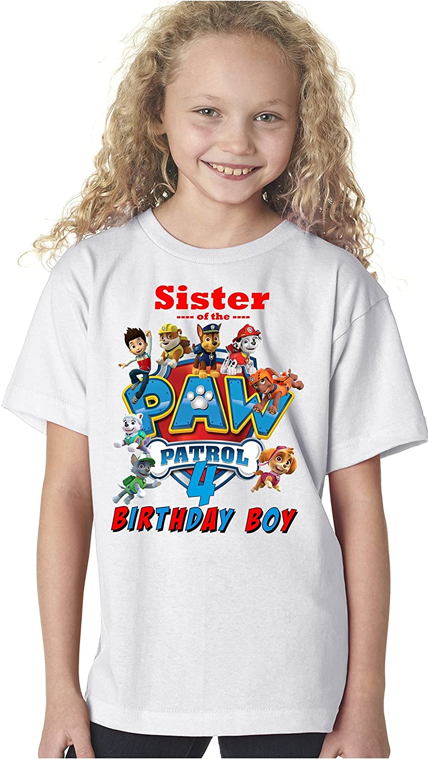 Paw Patrol Birthday Shirt FAMILY Boy