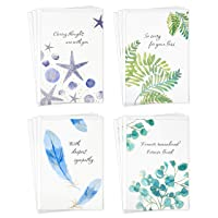 Hallmark Sympathy Cards Assortment, Watercolor Nature (12 Assorted Thinking of You Cards with Envelopes)