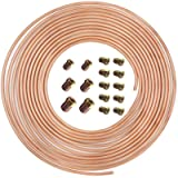 hikotor Flexible 25 Feet 3/16 Inch Copper Nickel Alloy Brake Line Tubing Kit with 16 Inverted Flare Fittings SAE…