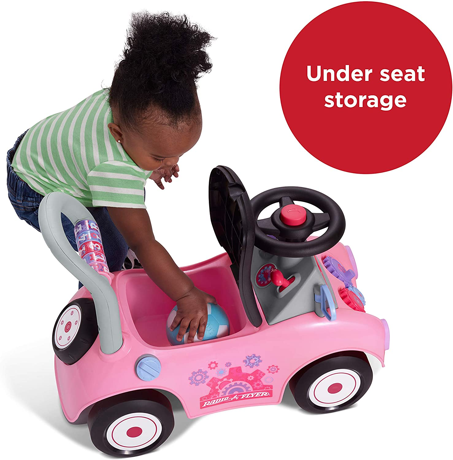 Radio Flyer Creativity Car, Sit to Stand Toddler Ride On Toy, Ages 1-3: Toys & Games