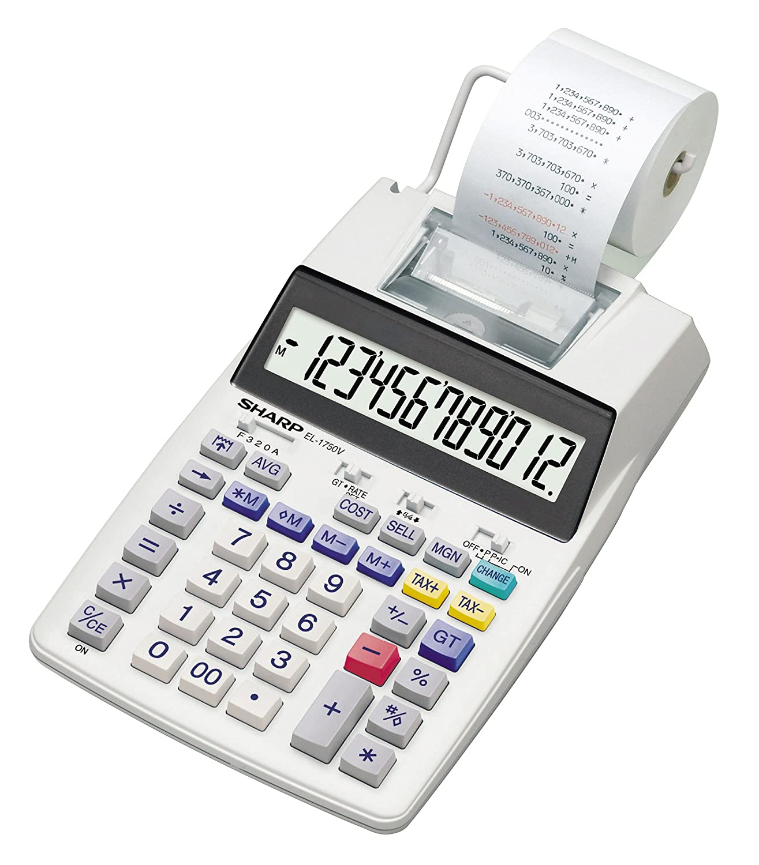 Sharp EL-5311750V Stampa calcolatrice, Display LCD a 12cifre SH-EL1750V