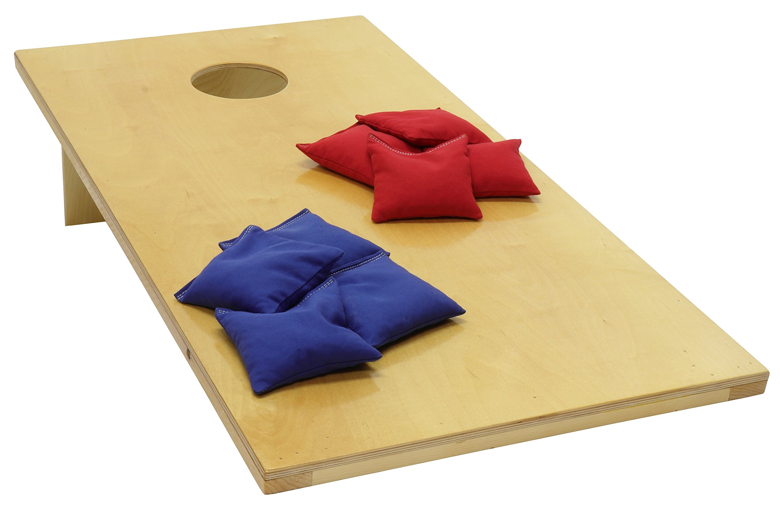 Pennsylvania Woodworks Cornhole Game Set :: 2 Solid Wood Corn Toss Boards + 8 Corn Filled Bean Bags :: Regulation Size, Weather Resistant Finish, 48'' x 24'' :: Slim, Foldable & Portable